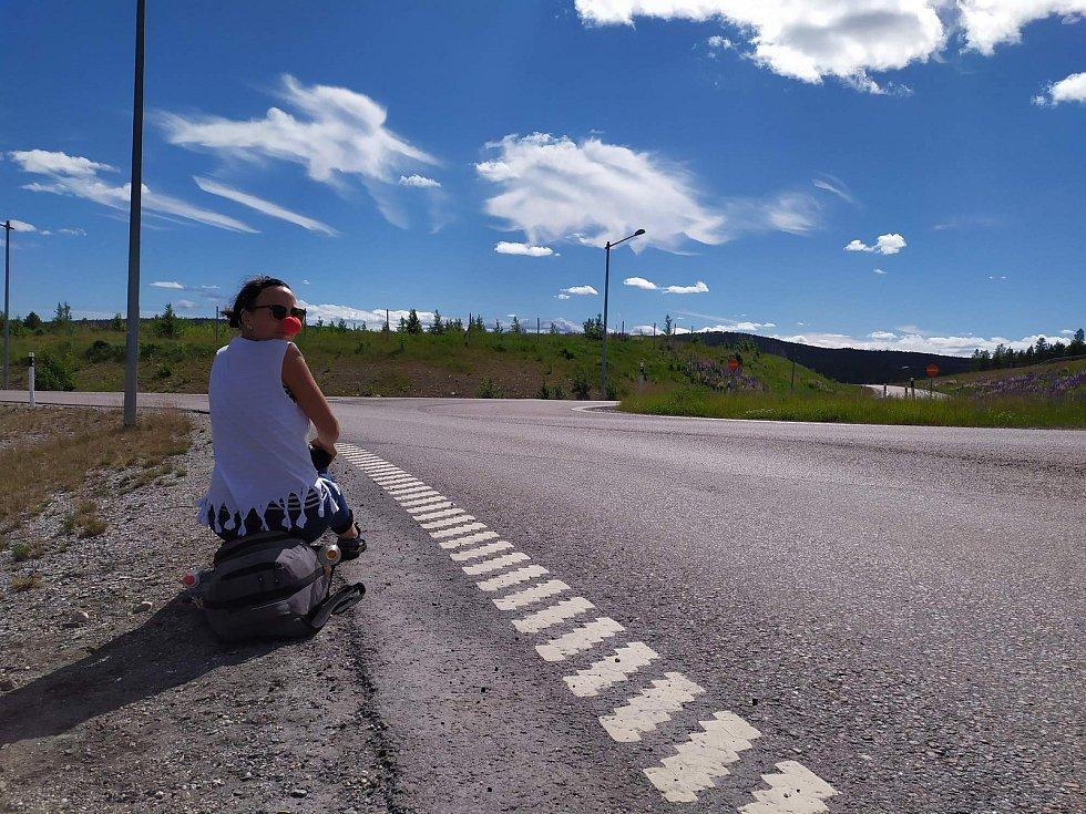 Eliška se zúčastnila závodu v autostopu podruhé.