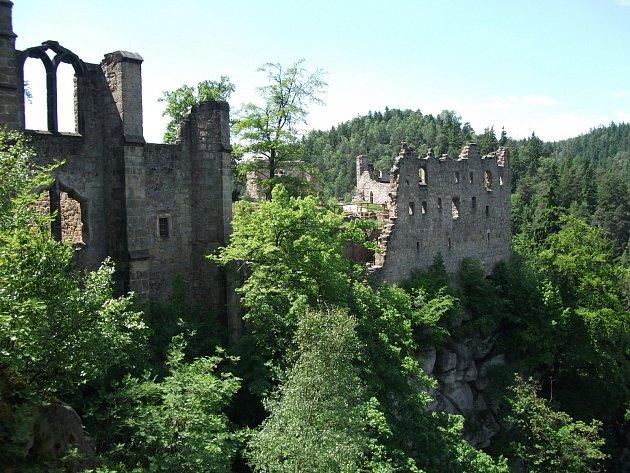 Skalní hrad Oybin.