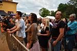 Mňága a žďorp zahrála v pátek večer v děčínském pivovaru Nomád.