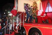 Vánoční Coca-Cola kamion přijel do Krásné Lípy.