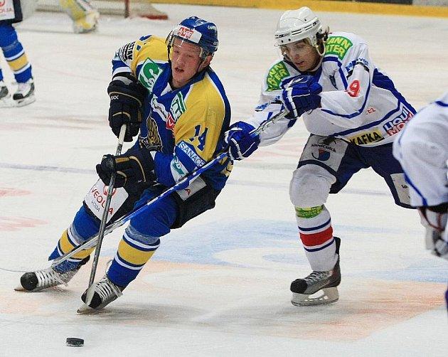 Hokej Lvi proti Třebíči.