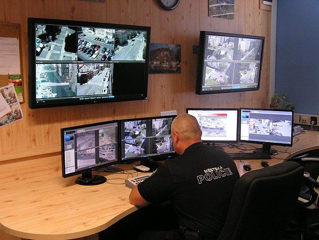 Kamerový systém městské policie.