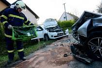 Dopravní nehoda v Horním Podluží.