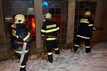 Požár slévárny na ulici Mladoboleslavská.