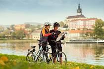Cyklisté na Labské stezce. Ilustrační foto.