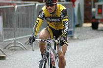 V ZÁVĚRU NESTAČIL. Cyklista David Jeřábek v závěru doplatil na měsíční pauzu.
