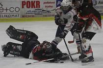 SMOLNÁ PORÁŽKA. Děčínské hokejistky (bílá) v tomto utkání smolně padli s týmem ESA Praha.