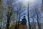 Cesta ke kostelík sv.Jana Křtitele na Strážném vrchu v Rumburku.