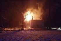 Požár domu Jiříkov - Filipov.