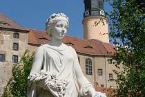 Malebný zámek Weesenstein.