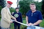 Hejtmani při své jízdě odstartovali postupné znovuobnovení muzejní železnice Česká Kamenice – Kamenický Šenov