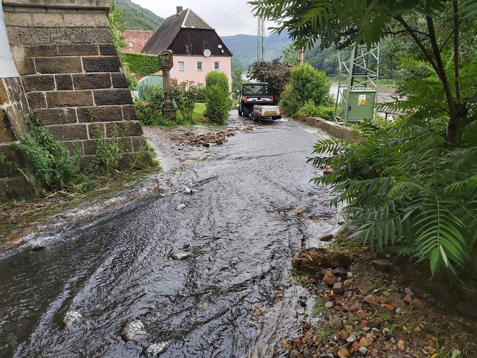 Velká voda v Děčíně.