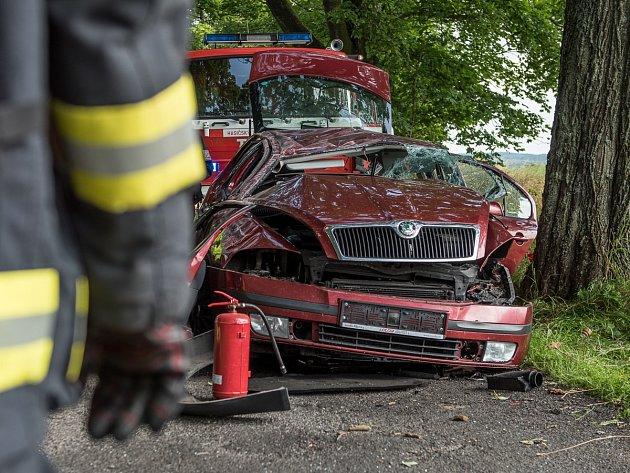 Dopravní nehoda ve Šluknově.