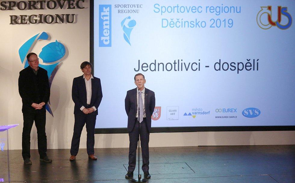 Slavnostní vyhlášení výsledků ankety Sportovec regionu Děčínsko 2019.
