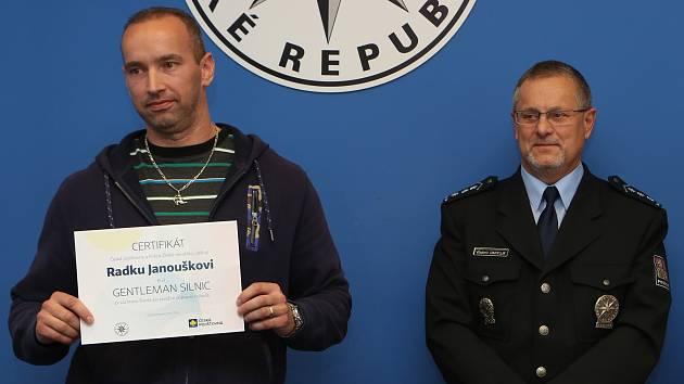 Oceněný Radek Janoušek.