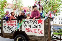 Oslavy 1. máje v Mikulášovicích.