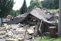 Výbuch plynu v Jílovém zdevastoval rodinný dům