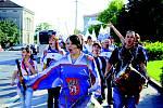 Pochod fan klubu HC Děčín.