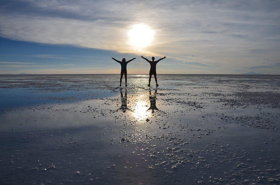 Zrcadlení na solné pláni