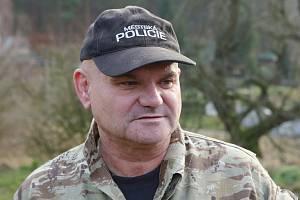 Jiří Nešněra, psovod Městské policie Děčín.