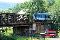 Most přes Ploučnici v Děčíně.