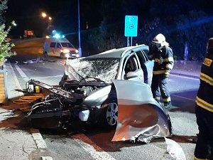 Dopravní nehoda ve Sládkově ulici v Děčíně