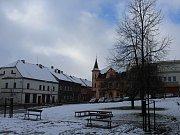 První sníh na Děčínsku se objevil například ve Verneřicích.