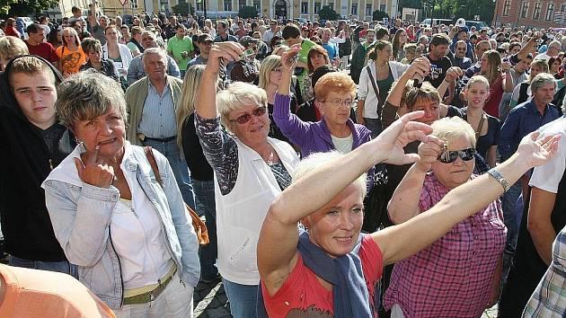 Demonstrace ve Varnsdorfu 24.9.2011.
