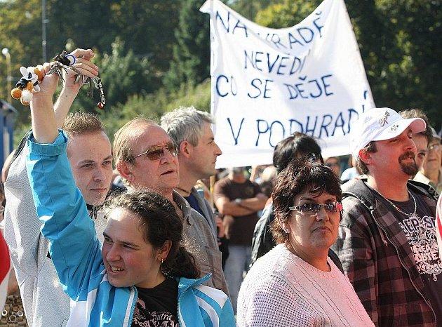 Demonstrace ve Varnsdorfu.