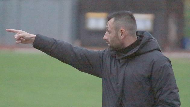 DAVID OULEHLA - trenér FK Varnsdorf nebyl s podzimní části spokojený.