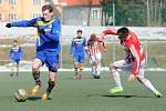 ŠKODA. Varnsdorští dorostenci (v modrém) remizovali 1:1 s Viktorkou Žižkov.