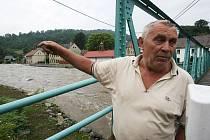 Povodně ve Františkově nad Ploučnicí.