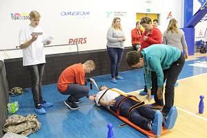 Desátý ročník soutěže v první pomoci proběhl v ČEZ Sportcentru v Děčíně.