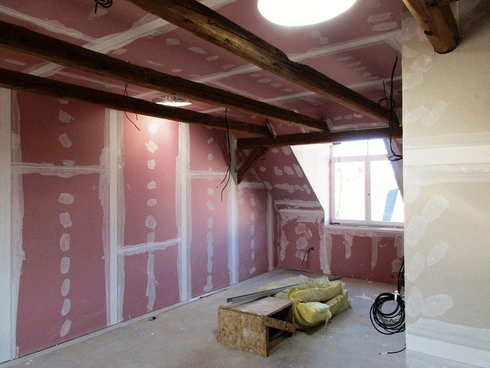 Interiéry podkroví.