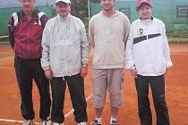 Vítězná čtvrtřice. Zleva Zlesák, Kubík, Hrnčíř a Šrámek.