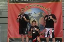 ZÁVODNÍCI Milan Dušek (vlevo), Ladislav Grundza (uprostřed) a Michal Málek (vpravo) z Krásné Lípy.