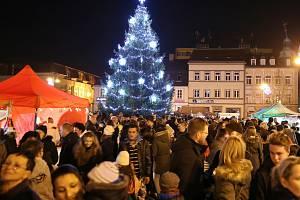 Rozsvěcení vánočního stromu v Rumburku.