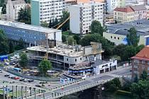 Stavba nové knihovny v Děčíně