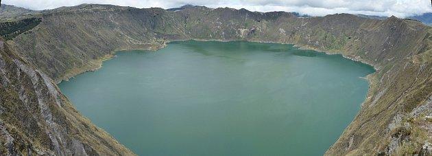 Kráterové jezero Quilotoa
