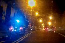 Místo nehody v děčínské Kamenické ulici, kde auto srazilo chodce