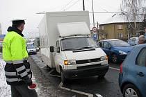 Dopravní  nehoda v ulici Sociální péče