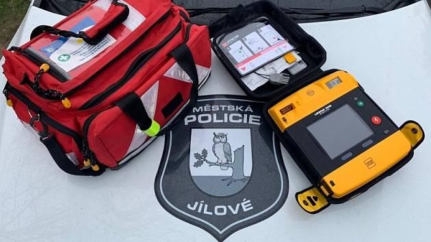 AED Městské policie v Jílovém.