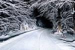 Sníh na silnici. Ilustrační foto.