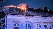 Požár domu ve Šluknově.