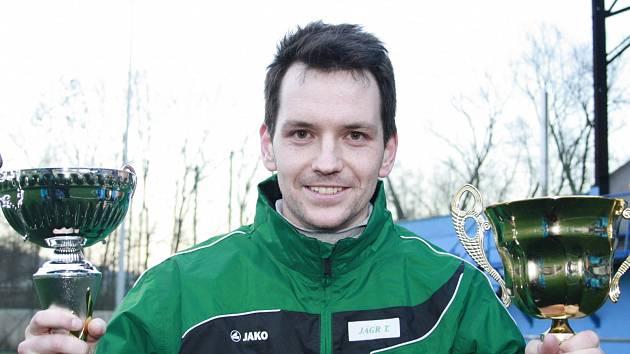 TAKTO SE VILÉMOVSKÝ Tomáš Jägr radoval na zimním turnaji v Děčíně. Bude se Vilémov radovat i v krajském přeboru?