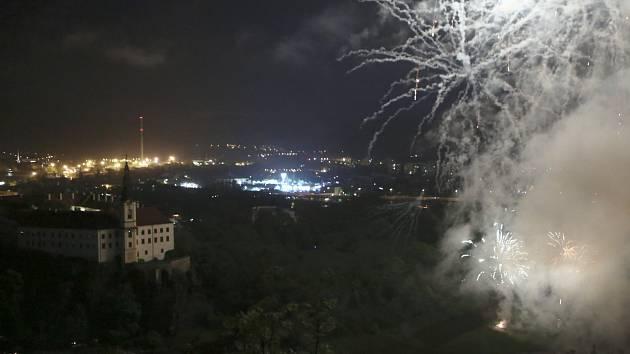 Městské slavnosti v Děčíně 2017, ohňostroj.