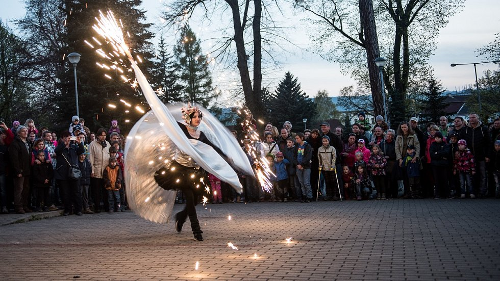 Pálení Čarodějnice ve Varnsdorfu.