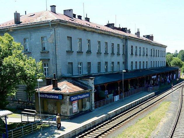 Vlakové nádraží v Dolní Poustevně.