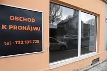 Prázdné obchody v Děčíně.