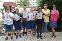 Žáci, kteří v soutěži finanční gramotnosti obsadili čtvrté místo